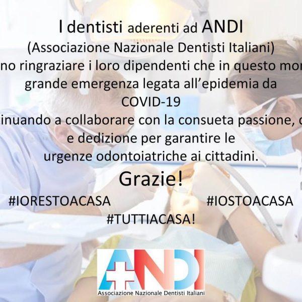 Dentisti ANDI – Ringraziamento ai dipendenti